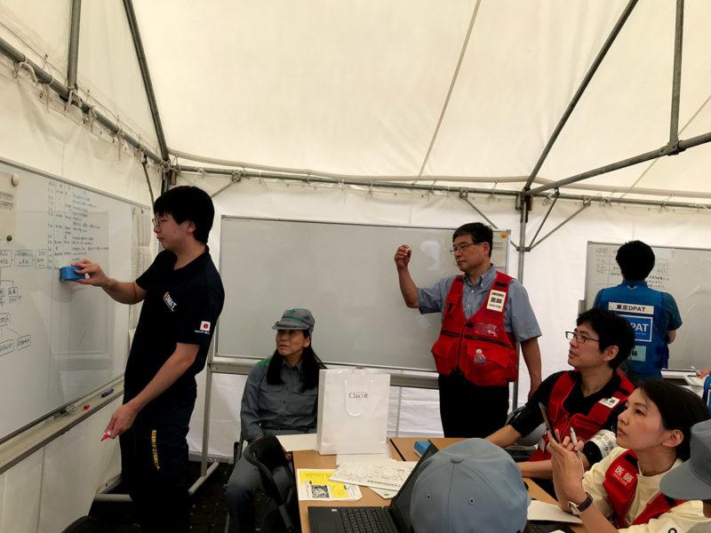 2019年 東京都・多摩市合同総合防災訓練のようす
