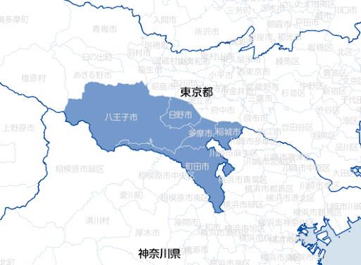南多摩医療圏 出展:地域医療情報システム(日本医師会)